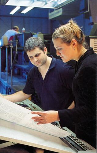 Derek in his printing days